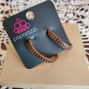 Paparazzi Copper hoop earrings